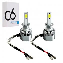 Автомобильные светодиодные LED лампы C6 H1 6500K 3800 LM 36W