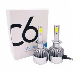 Автолампа LED C6 H4 белая коробка