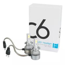 (H7) Автомобильные Светодиодные Лед LED лампы HeadLight C6