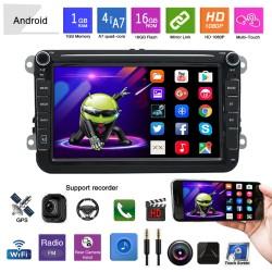Штатна магнітола Android10,0 Volkswagen, skoda,Автомагнітола 2DIN,навігатор,автомагнітола з андроїд