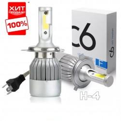 Автомобильные светодиодные LED лампы C6 H4 6500K 3800 LM 36W