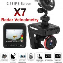 Автомобільний відеореєстратор Radar video X7 360° 2 в 1 FullHD 1080p з радар-детектором і GPS модулем