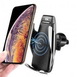 Сенсорный автомобильный держатель Smart S5 Wireless для телефона с функцией беспроводной зарядки