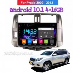 """Штатная Автомагнитола Toyota Prado 150 2009-2013 Android 10.1 Экран 9"""" Память 4/16 Гб,4/32 гб"""