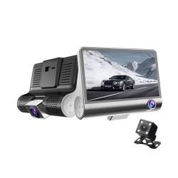 """Автомобільний відеореєстратор DVR T655 4"""" Full HD на 3 камери"""