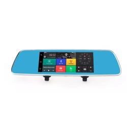 Зеркало с видеорегистратором, 7'' сенсор, Андроид, GPS навигатор, WIFI, 3G L1001C/ 2 кам.